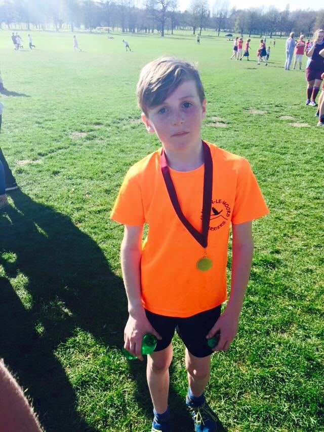 Dexter Thompson, winner of the U10 Boys Burnley Schools XC