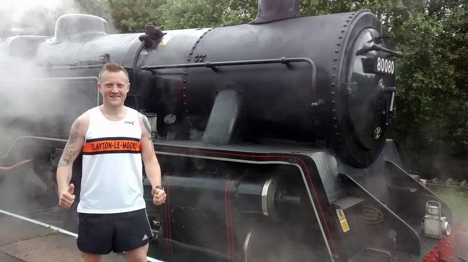 Runner and steam train
