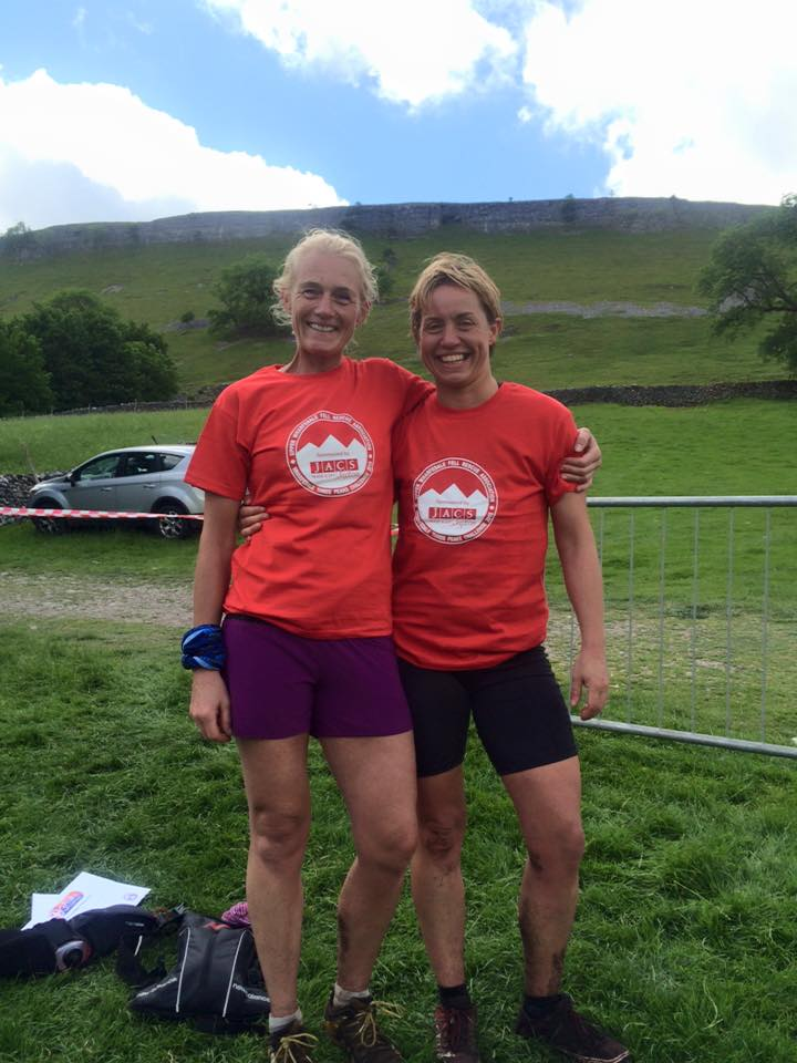 Vicky Heys and Angela Shian at the Wharfedale 3 Peaks Challenge