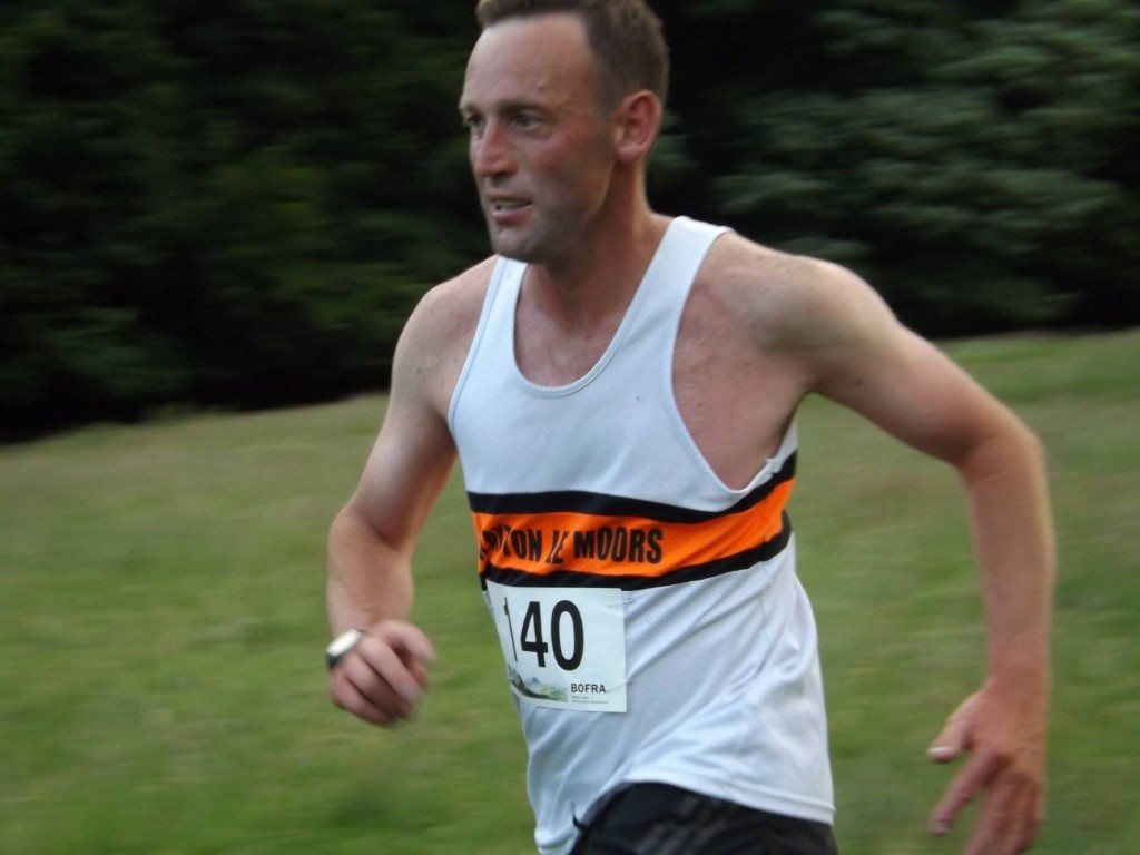 Richard Briscoe at Eshton Moor Fell Race. Photo by Linda Grundy