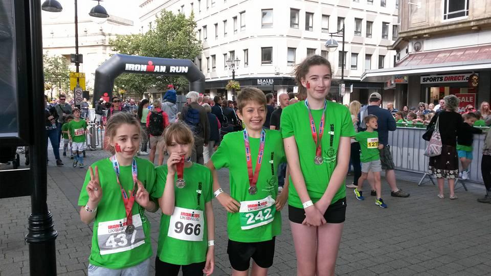Team Stevenson at UK Ironkids running event