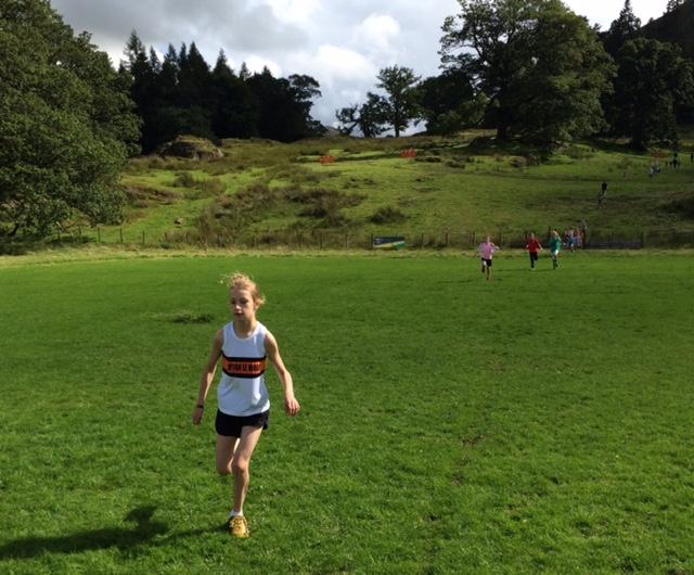 Ella Dorrington at the Patterdale Dog Day junior fell race. Photo by Alan Dorrington
