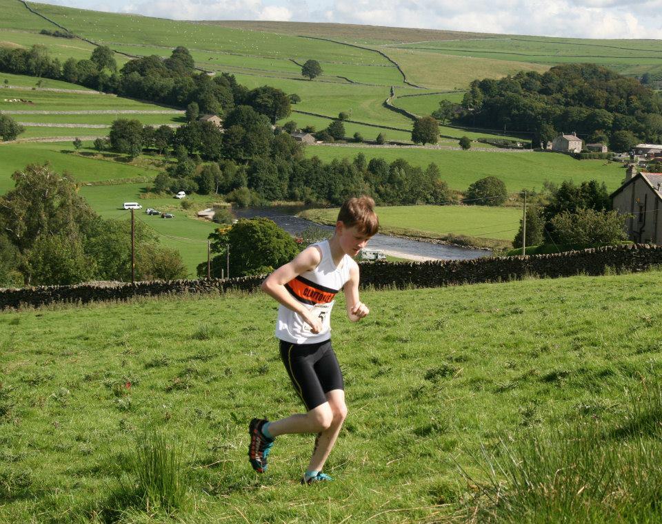 Jackson McKay at the Burnsall Fell Race. Photo by Geoff Thompson
