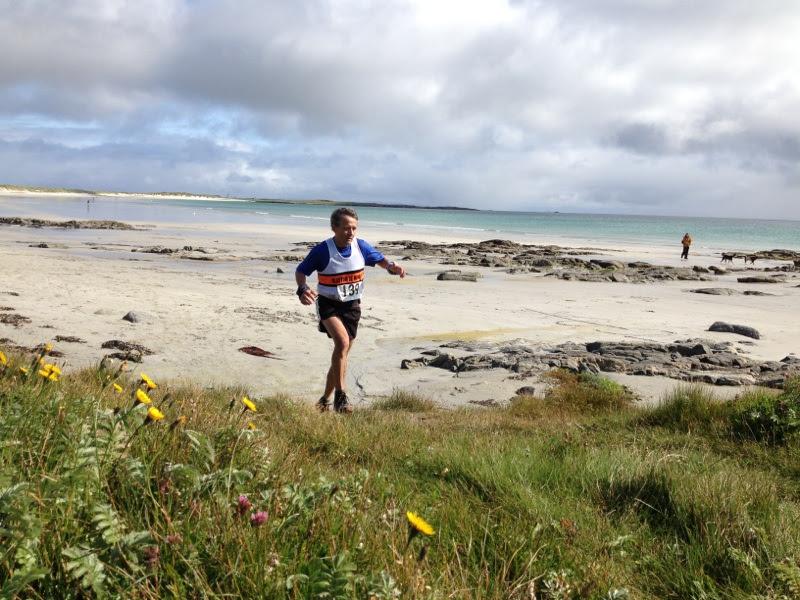 Martin Terry at the Tiree Ultramarathon