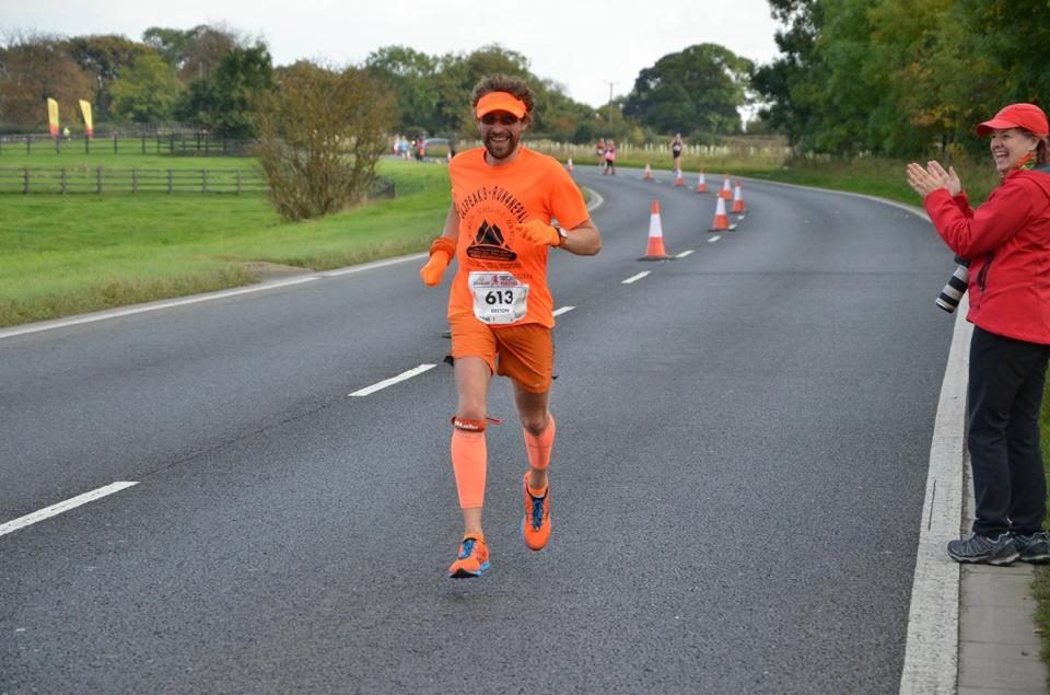 Breton Holdsworth at the Plusnet Yorkshire Marathon. Photo by Matthew Lalor