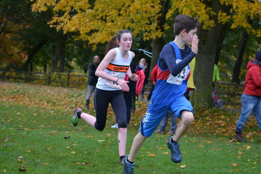 Eleanor Root in the U15 Girls' race.