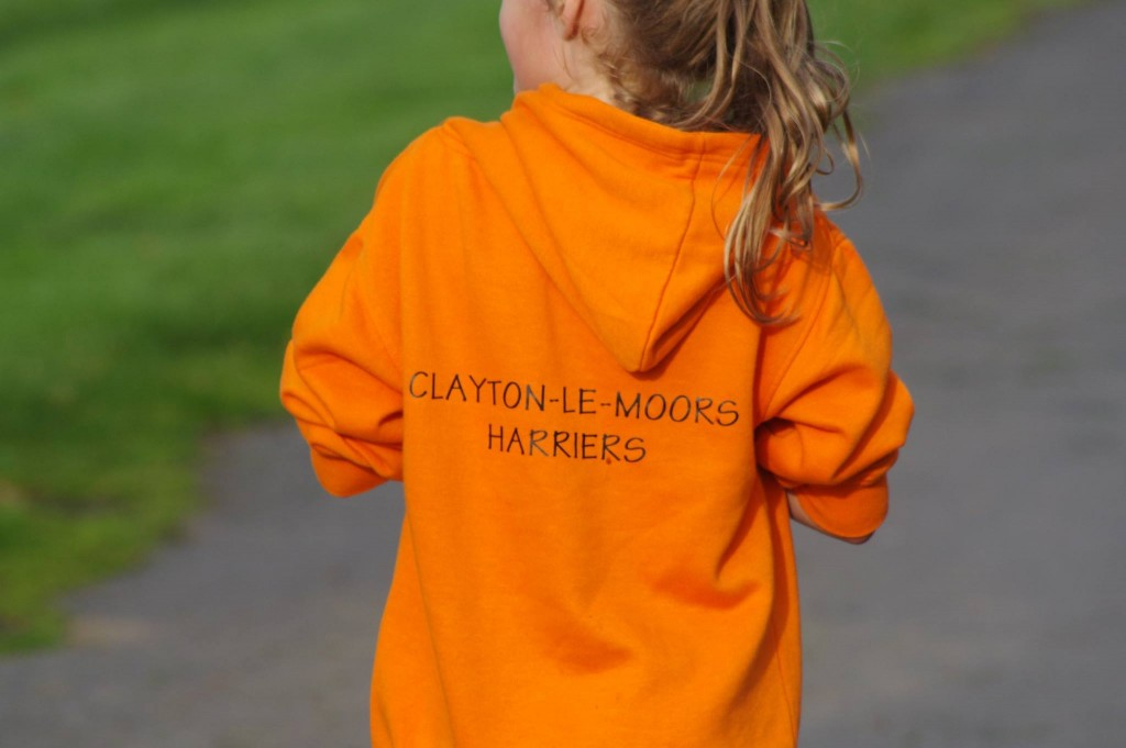 New club hoodies on display at Burnley parkrun. Photo by David Belshaw