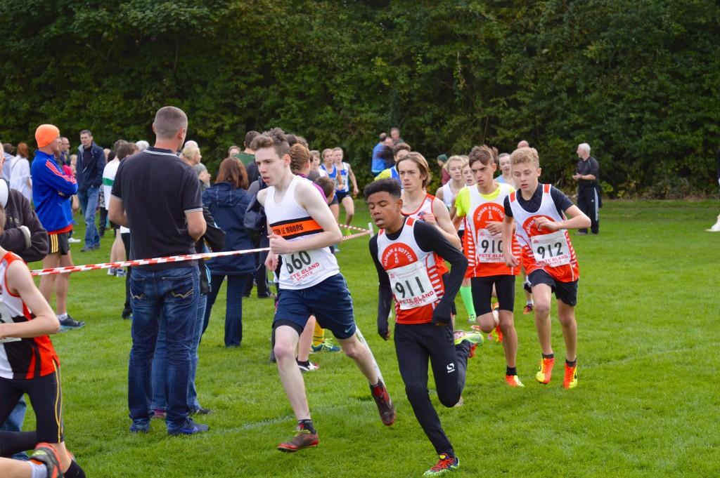 Thomas Bradley in the U15 Boys' Race. Photo by Nicholas Olszewski