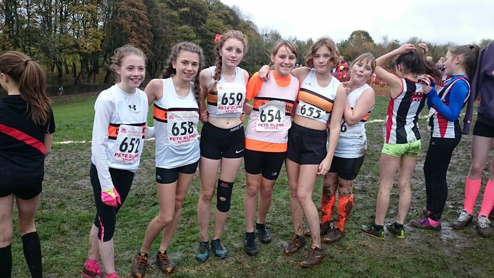 U13 Girls ready to race at the Red Rose Hyndburn fixture. Photo by Adrienne Olszewska