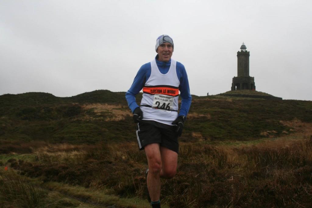 Stephen Fish at the David Staff Memorial Fell Race. Photo by Helen Jones
