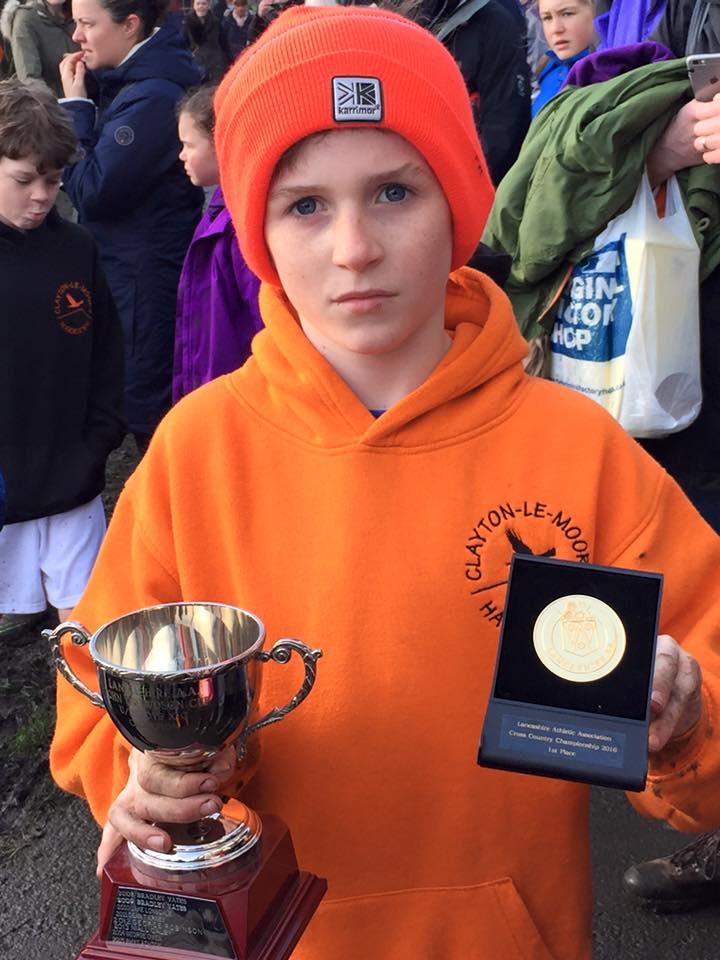 Dexta Thompson, U11 Champion. Photo by Nicola Thompson