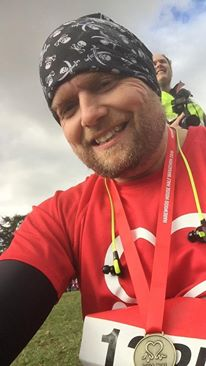 Phil Naylor at the Harwood House Half Marathon