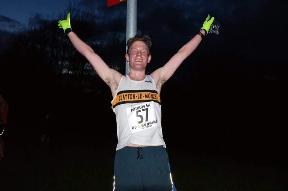A happy Jonathan Pye at the super fast Podium 5K