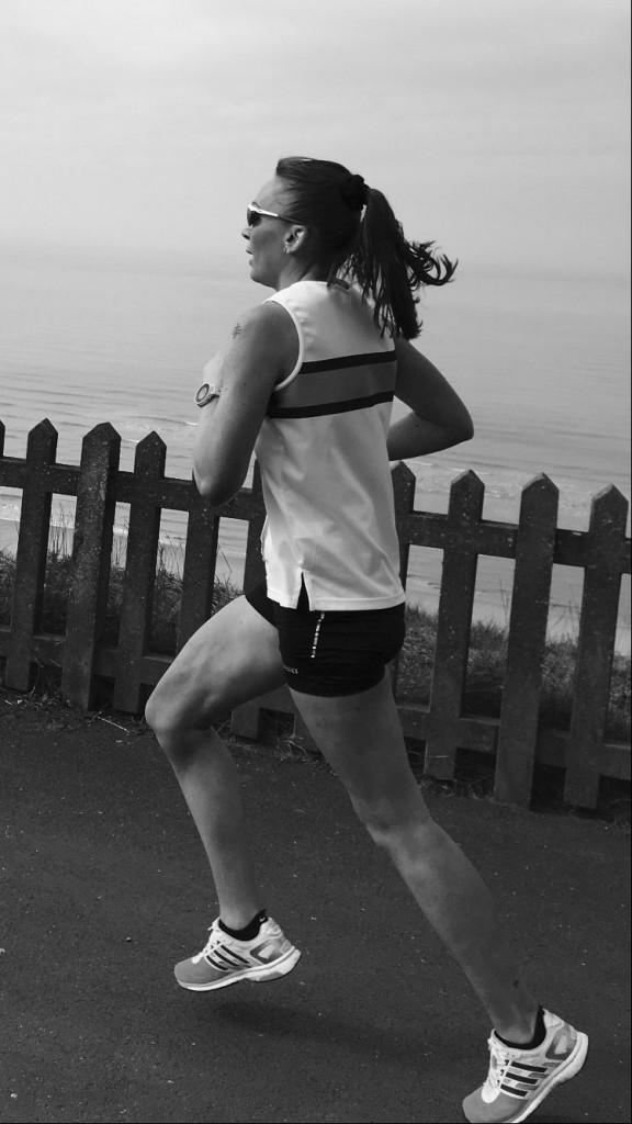 Amanda Duffy at the Sweatshop 10 mile race at Bispham