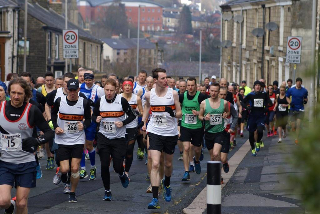 Team Clayton at the Darwen Heritage Half Marathon. Photo by George S Davies
