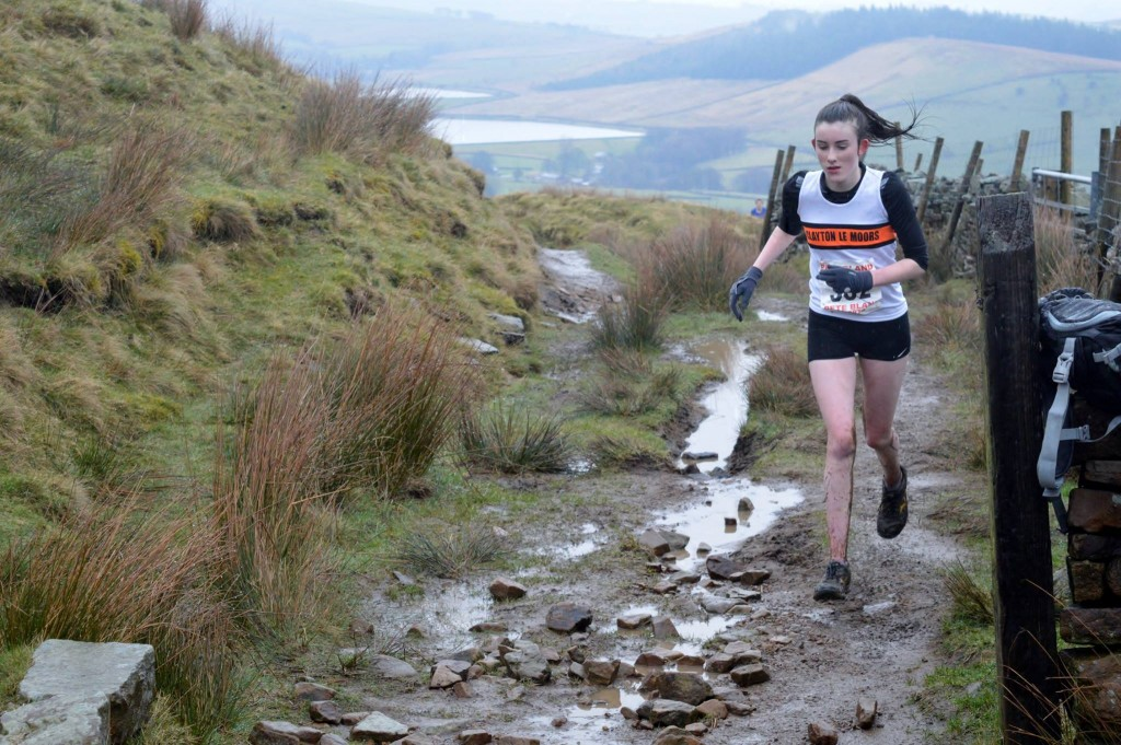 Eleanor Root in the U16 race. Photo by Nicholas Olszewski