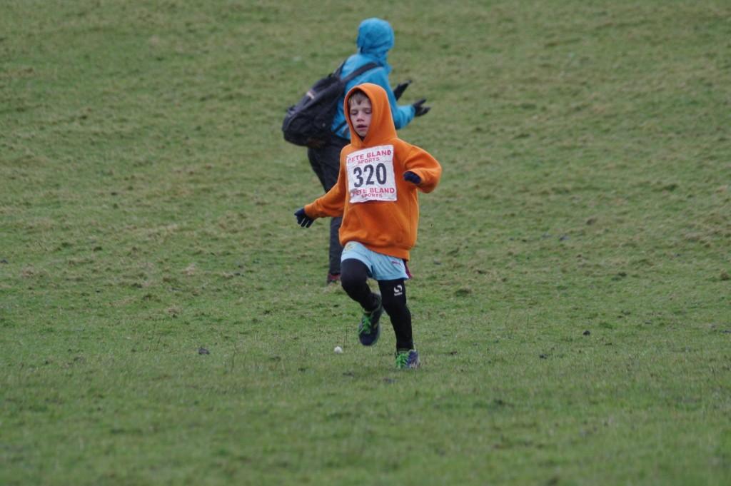 Felix Thompson in the U8 Race. Photo by David Belshaw