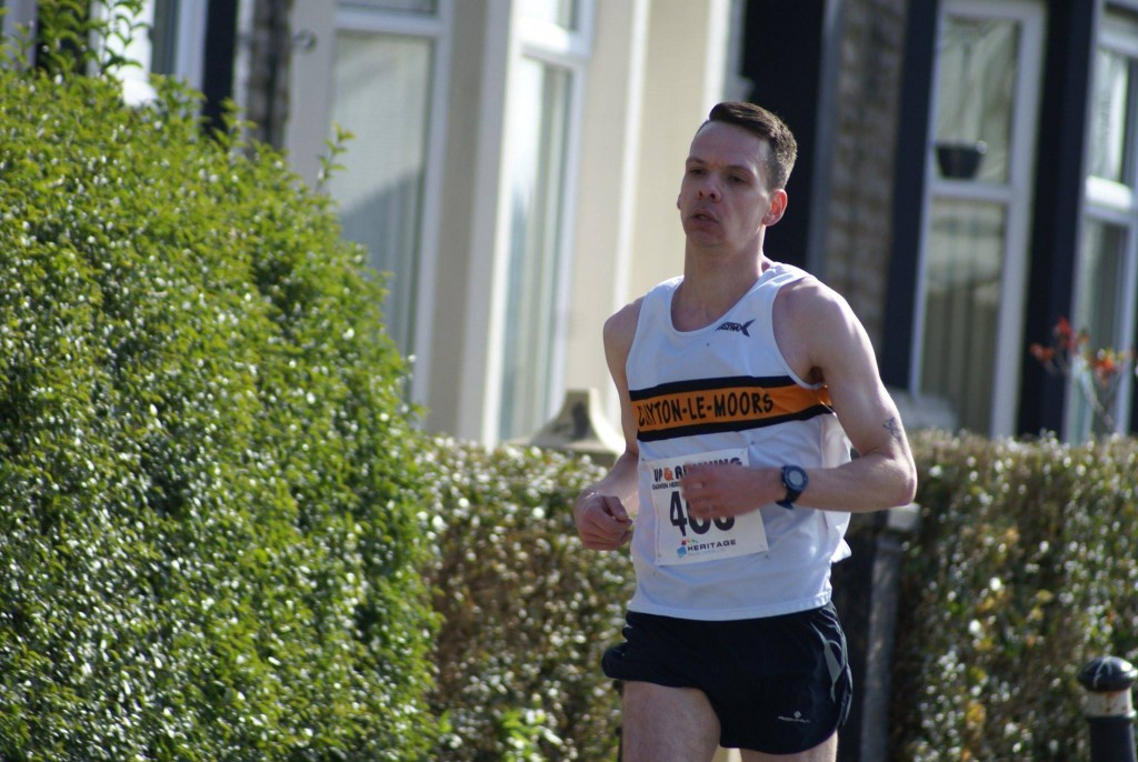 Jacob Watson at the Darwen Heritage Half Marathon. Photo by George S Davies