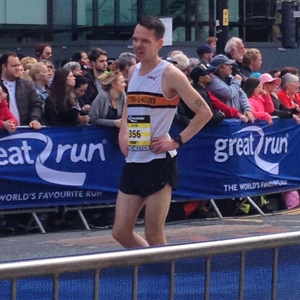 Jacob Watson at the Great Manchester Run.