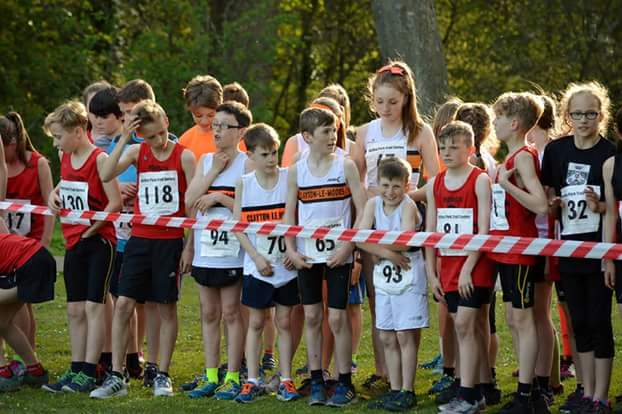 Starting line at Astley Park Junior Trail Series. Photo by Nicholas Olszewski