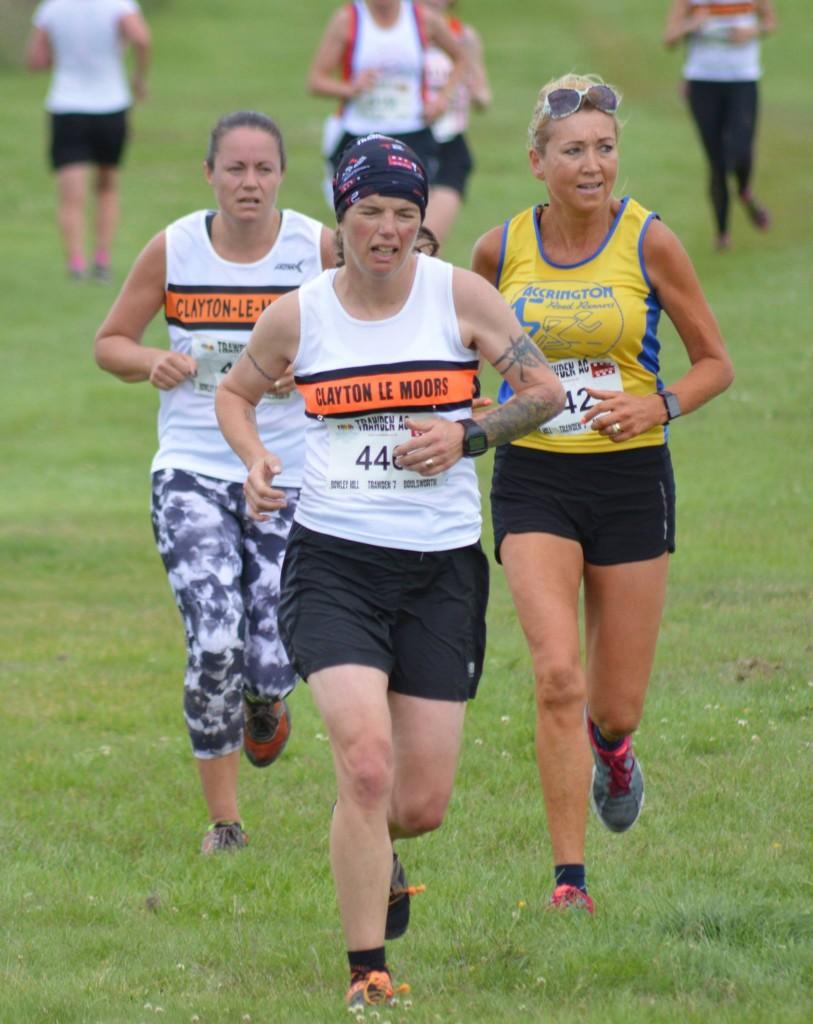 Clayton ladies Cassie Smedley and Julia Rushton racing to the finish. Photo by Nick Olszewski