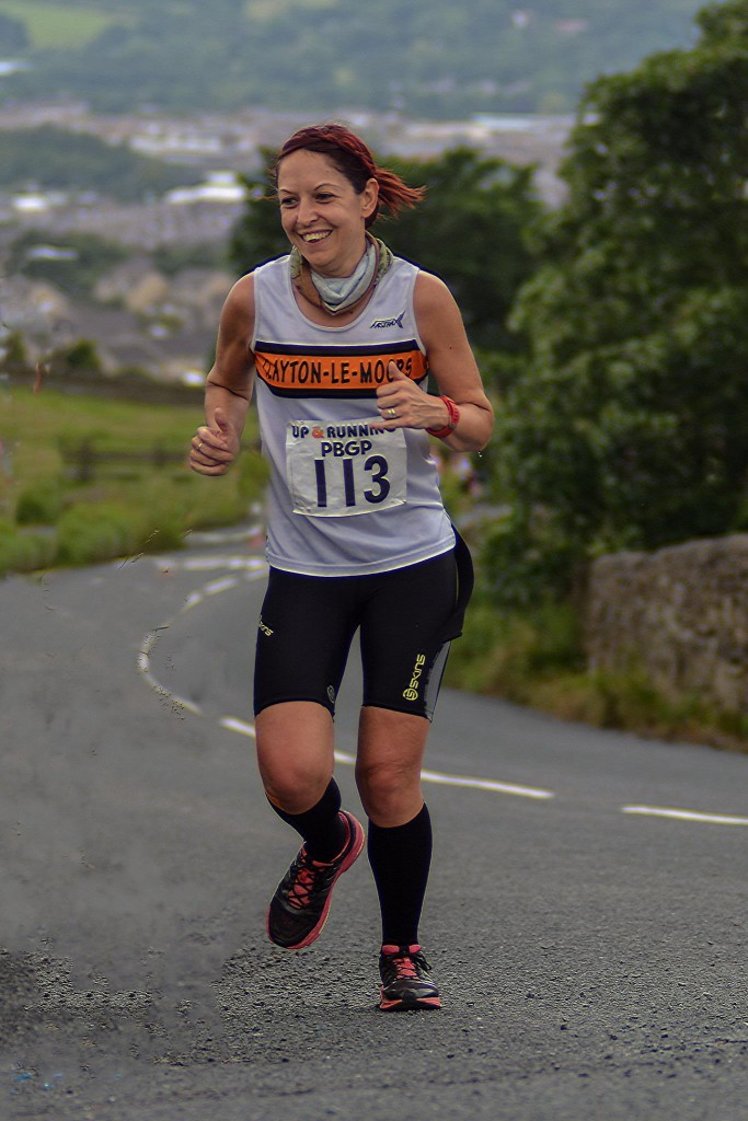 Donna Airey at the Hendon Brook Half Marathon. Photo by Bryn Barnes