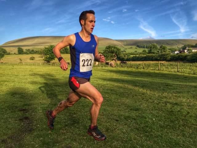Dave Motley leading the downhill race. Photo by Alan Dorrington