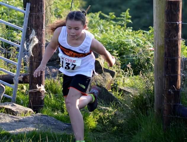 Ellisia Smedley in the U8 Race at Widdop. Photo by Nicholas Olszewski