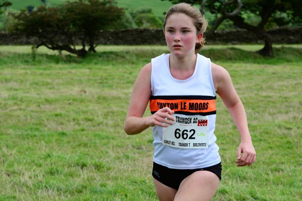 Natasha Olszewska in the U14/U16 race. Photo by David Belshaw