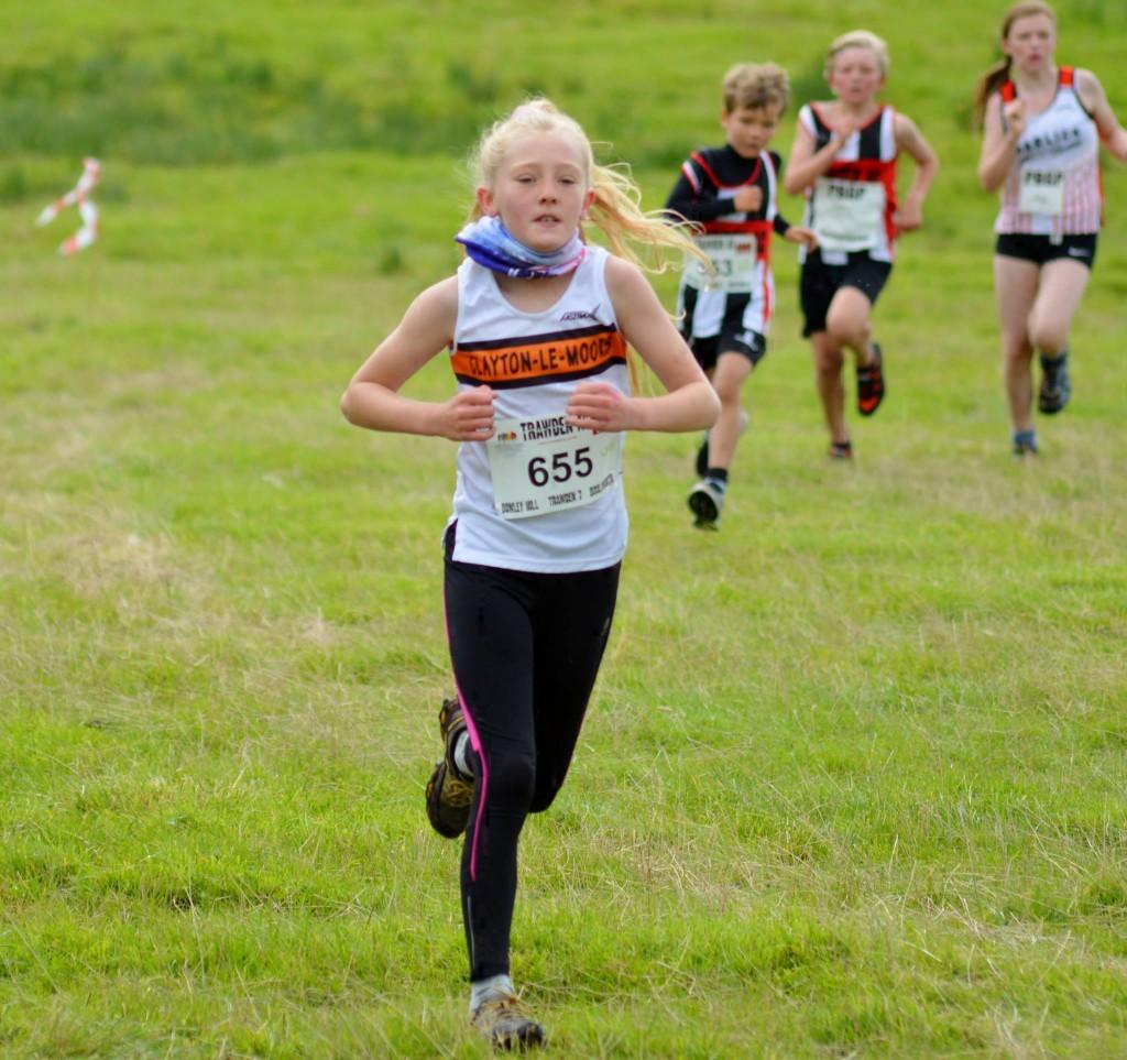 Summer Hargreaves in the U12 Race. Photo by Nicholas Olszewski