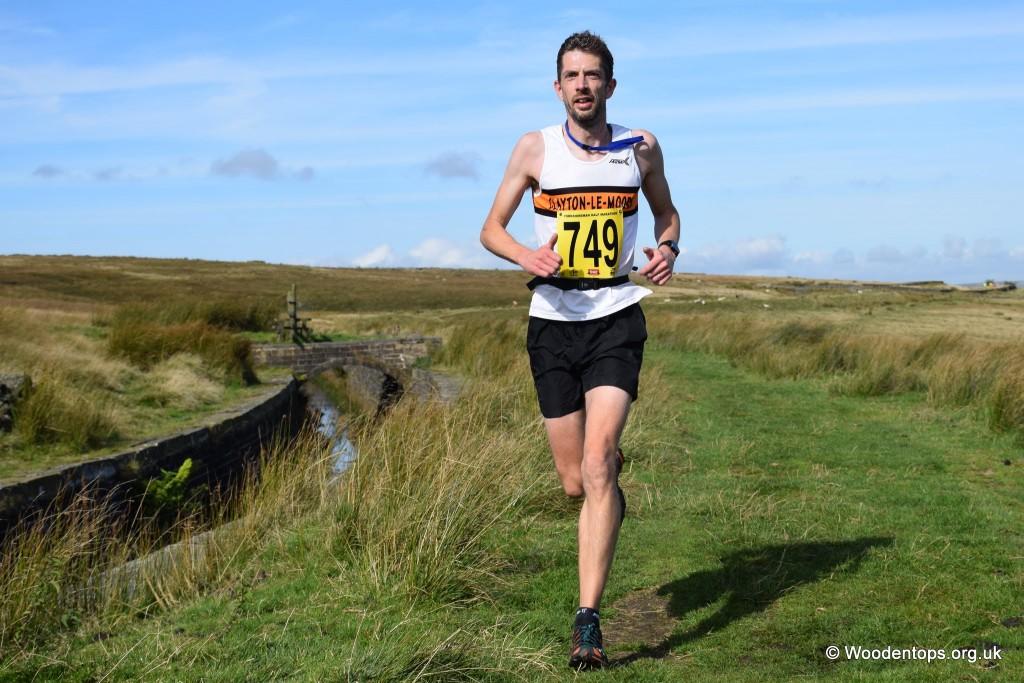 Richard Stevenson on the Yorkshireman Off Road Half Marathon. Photo by Woodentops