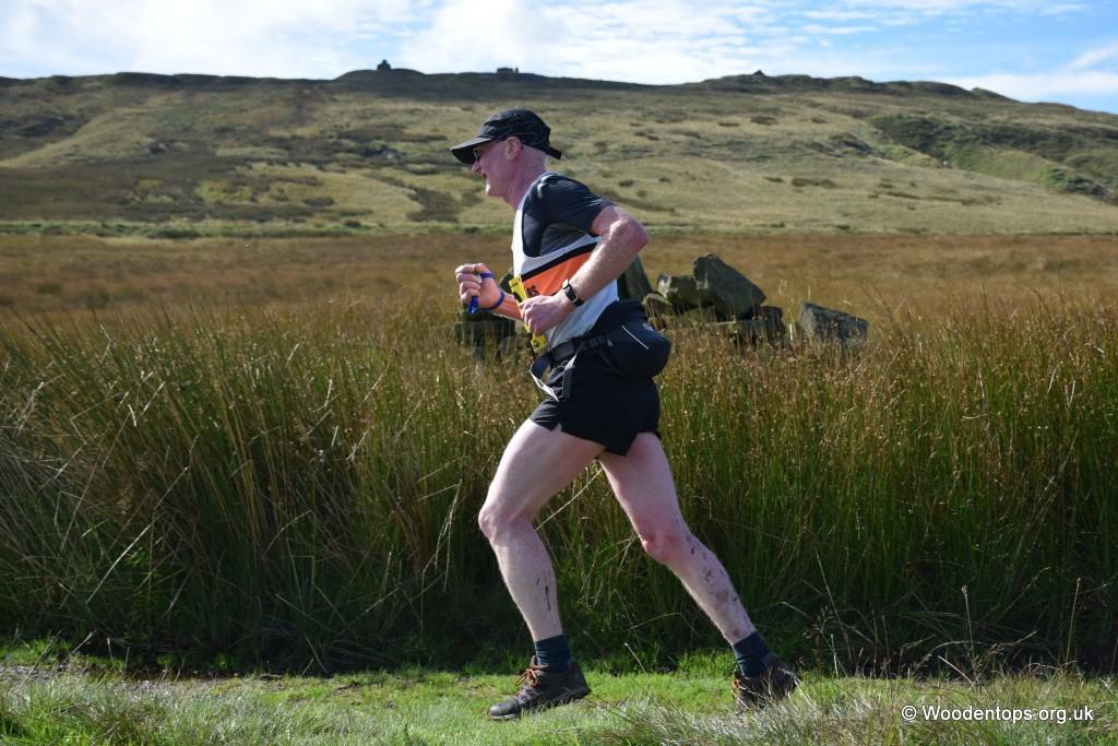 Jeffrey Pickup at the Yorkshireman Off Road Half Marathon. Photo by Woodentops