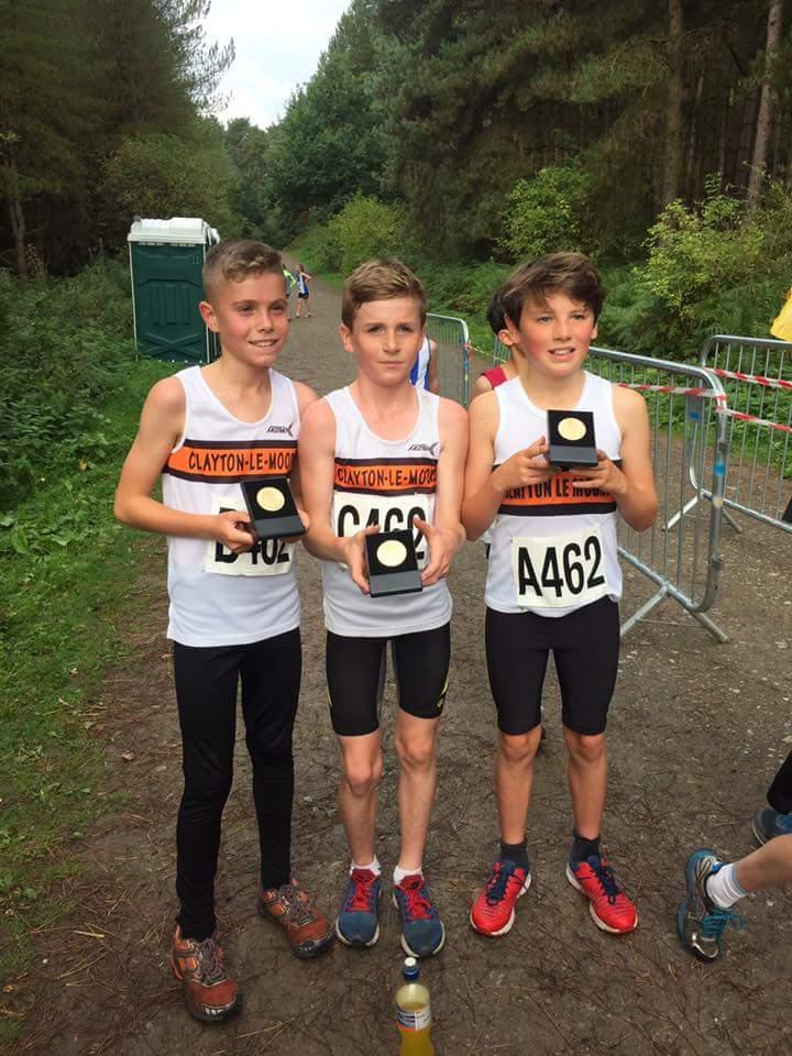 Winning U11 Boys. L-R Robbie Smedley, Dexta Thompson and Finlay Stubbs