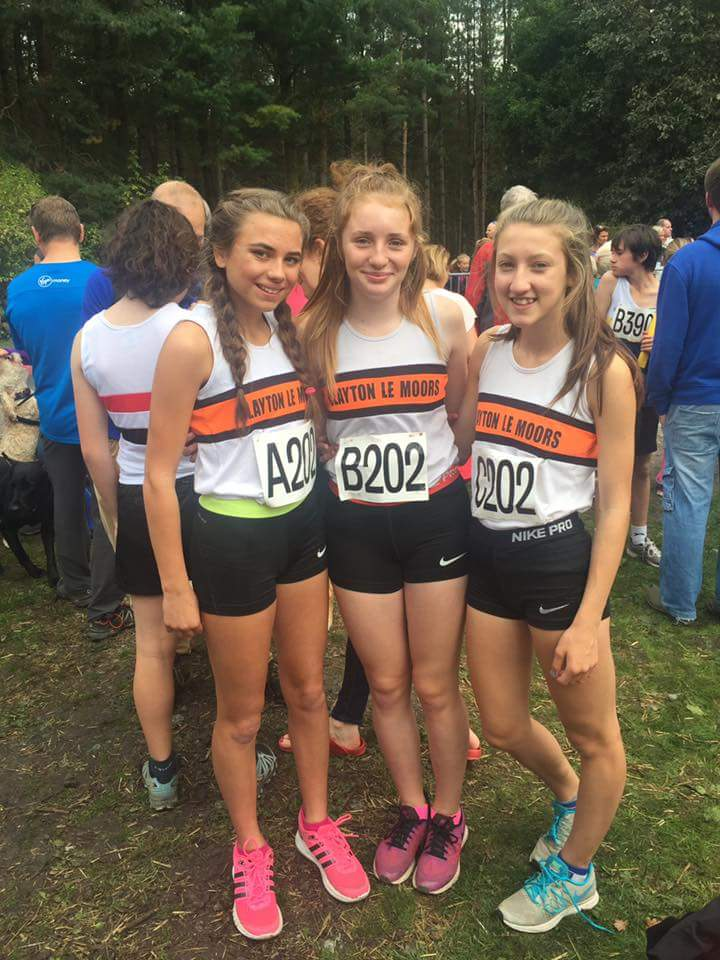 U15 Girls. L-R Millie Stubbs, Liberty Thompson and Briony Holt