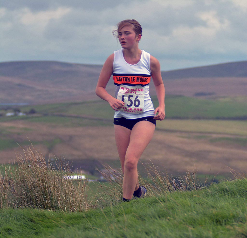 Natasha Olszewska, 1st U14 girl at Thieveley. Photo by Bryn Barnes