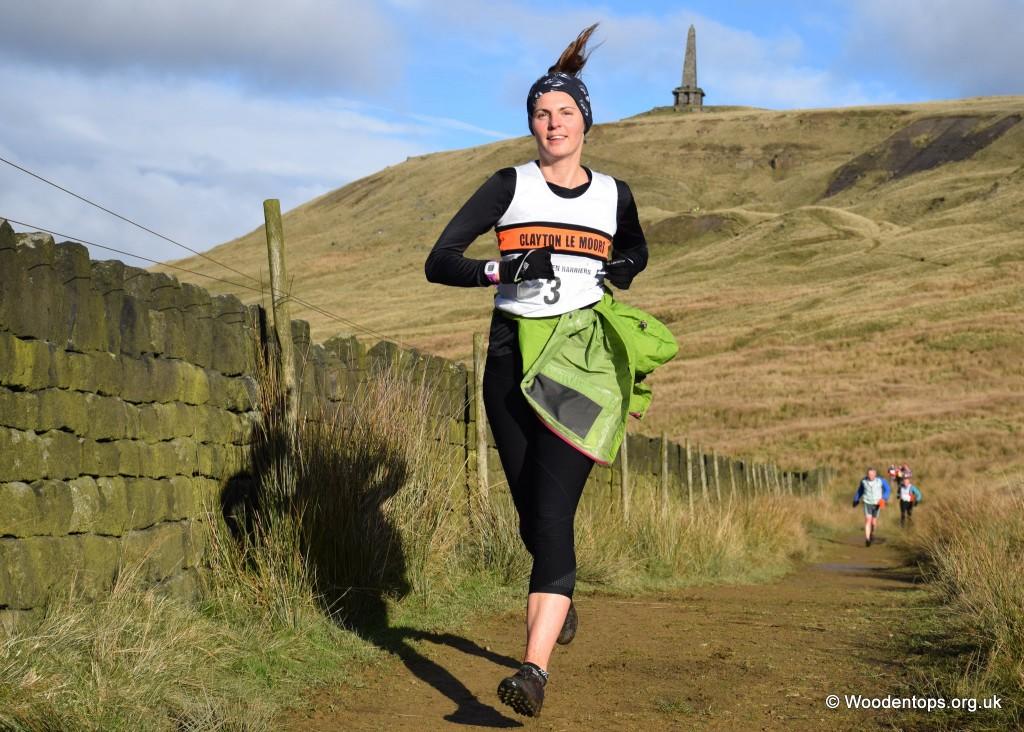 Michelle Butschok at the Shepherd's Skyline fell race. Photo by Woodentops