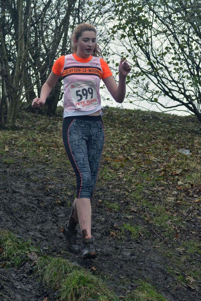 Lucy Stevenson in the U17 race. Photo by Bryn Barnes