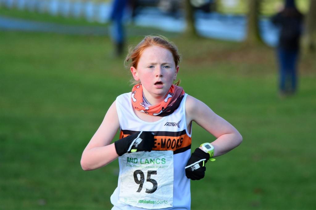 Helana White in the U11 girls' race. Photo by David Belshaw
