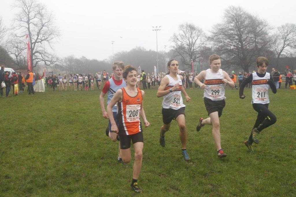 U15 Boys in action. L-R Stanley Grewal, Aaron Lundi and Adam Stevenson. Photo by David Wood