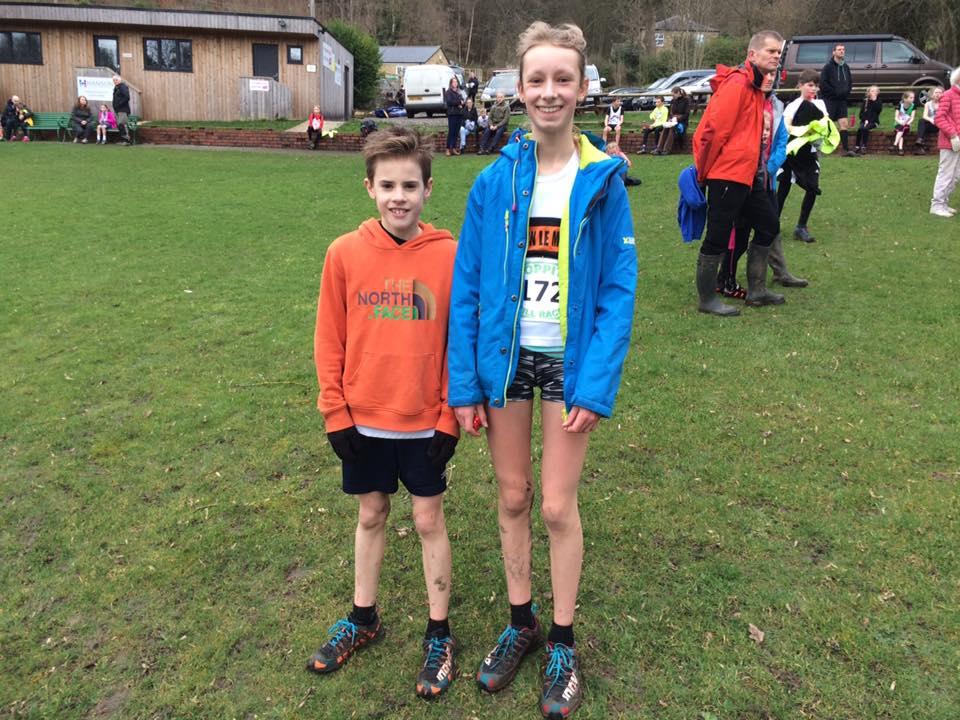 Jenson Bentham and Ella Dorrington at the Hoppit Hill Races