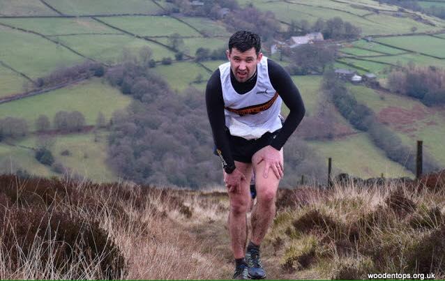 Ryan Wilkinson at the Midgley Moor Fell Race. Photo by Woodentops