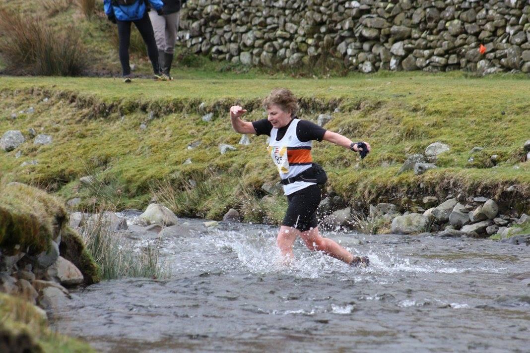 Katy Thompson at the Cautley Fell race. Photo by Estelle Willis