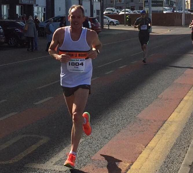 Paul Foster at the Blackpool Half Marathon
