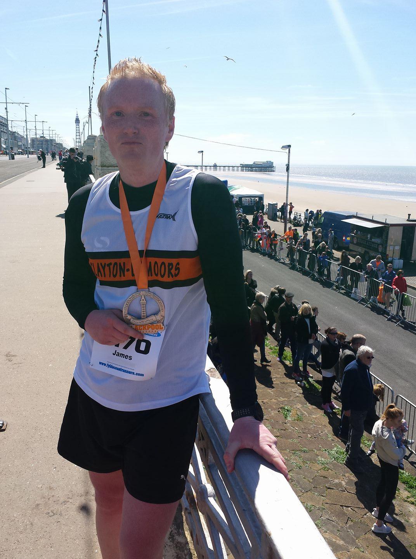 James Dunderdale at the Blackpool Marathon.