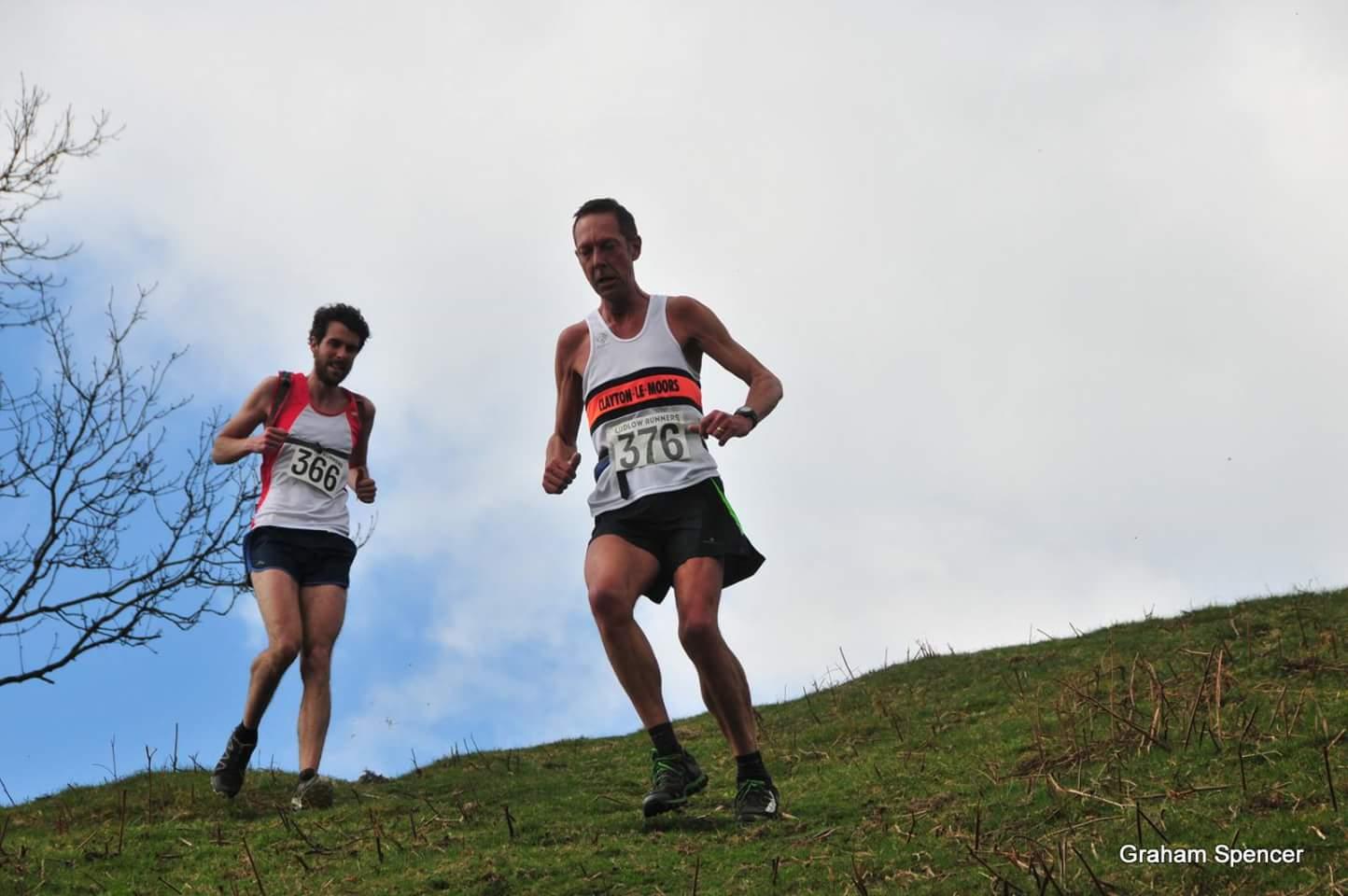 Mark Nutter in the Mynd Dragon fell race. Photo by Graham Spencer