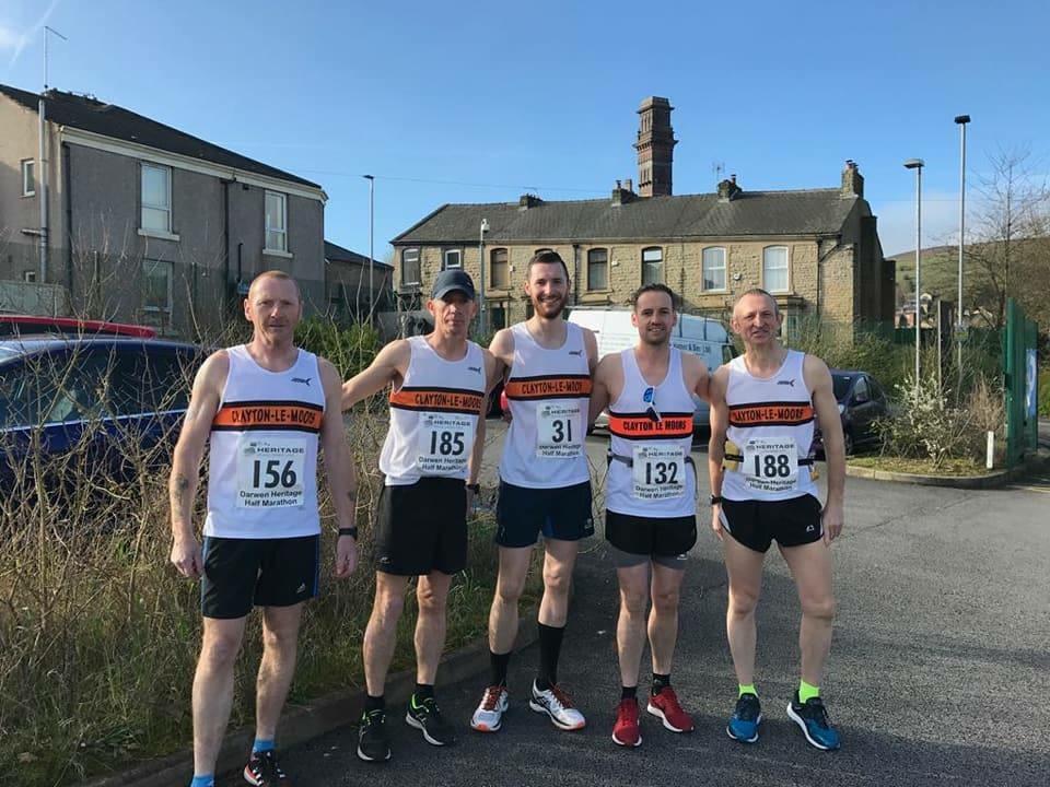 Team Clayton at the Darwen Heritage Half Marathon Photo: