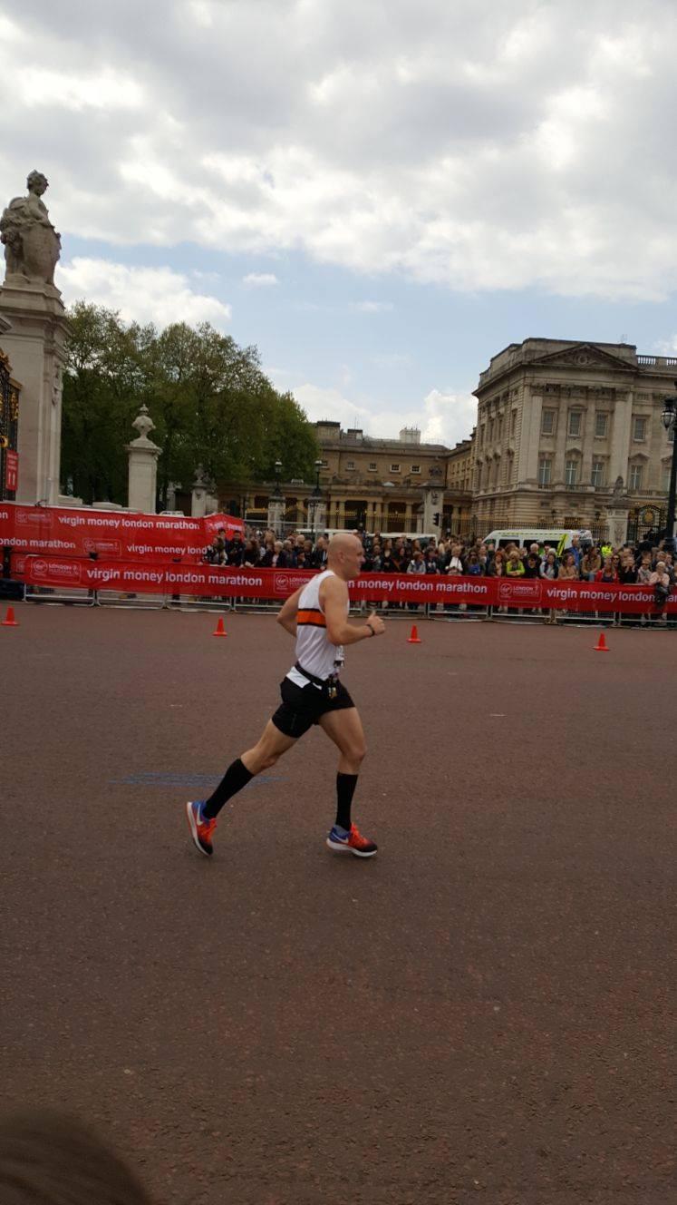 Dan Plant at the London Marathon