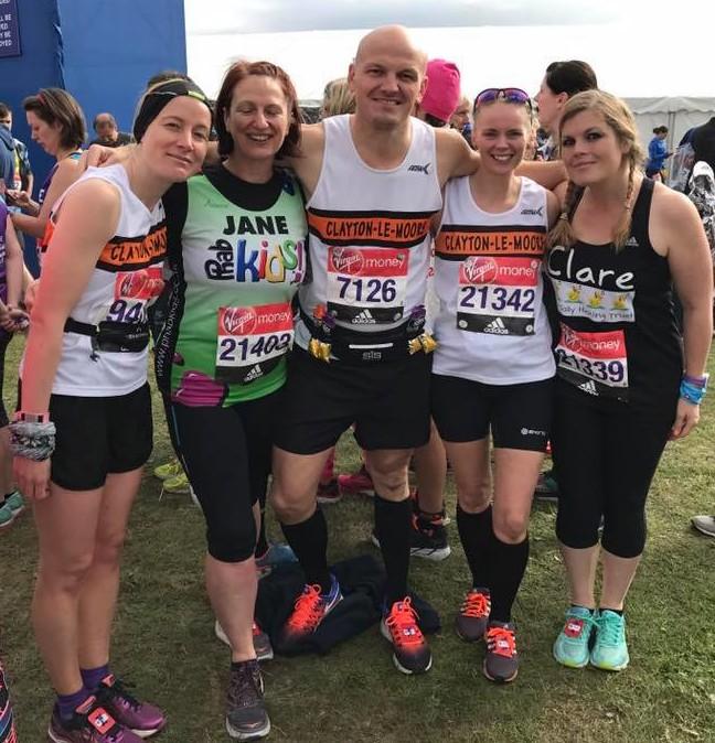 L-R Lynsey Birtwistle, Jane Hyland, Dan Plant, Jane Ellis and Clare Wilson