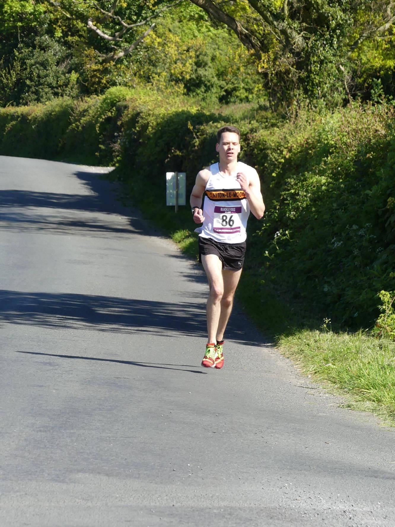 Jacob Watson at the Blacksticks Blue race.