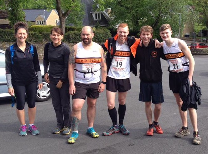 Leg 3 Runners at the Calderdale Way Relay
